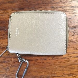 Celine coin purse. Dimensions 2 3/4 x 3 3/4.